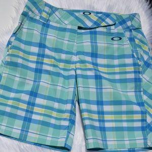 Womens Oakly Plaid Shorts